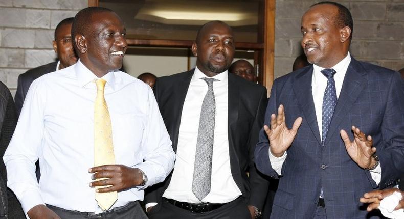 File image of DP Ruto with Kipchumba Murkomen and Aden Duale