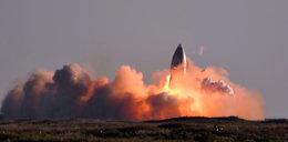 Eksplozja rakiety SpaceX podczas testu w Teksasie. WIDEO