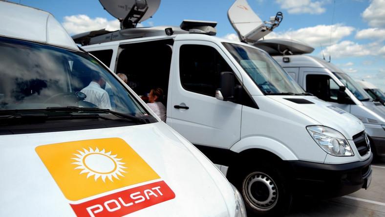 Wóz satelitarny telewizji Polsat