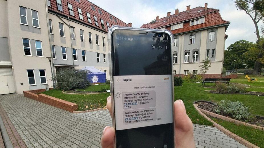 Szpital w Świnoujściu wysyła SMS-y do pacjentów