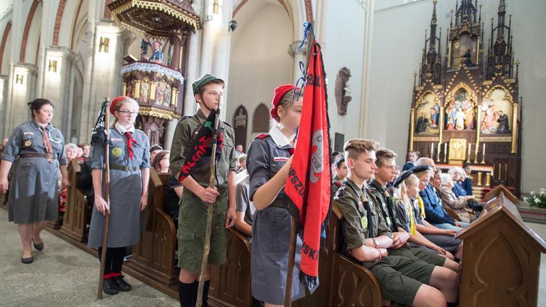 W łódzkiej archikatedrze odprawiono mszę św. w intencji zmarłych harcerek