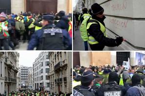 """DRAMATIČAN POČETAK PROTESTA Tuča """"žutih prsluka"""" i policije, bačen suzavac (FOTO, VIDEO)"""