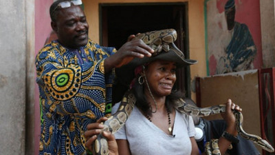 The Python: A revered symbol of worship in Nigeria