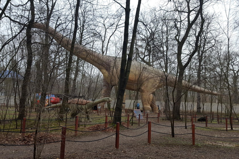 Dinozaur staje na nogi