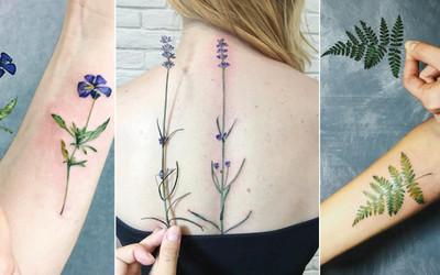 Tatuaże Roślinne Które Idealnie Imitują Prawdziwe Kwiaty