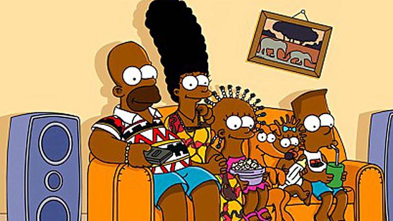 Rodzinka Simpsonów jako Afrykańczycy