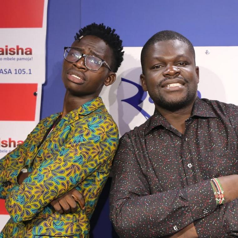 Comedian MCA Tricky with Billy Miya