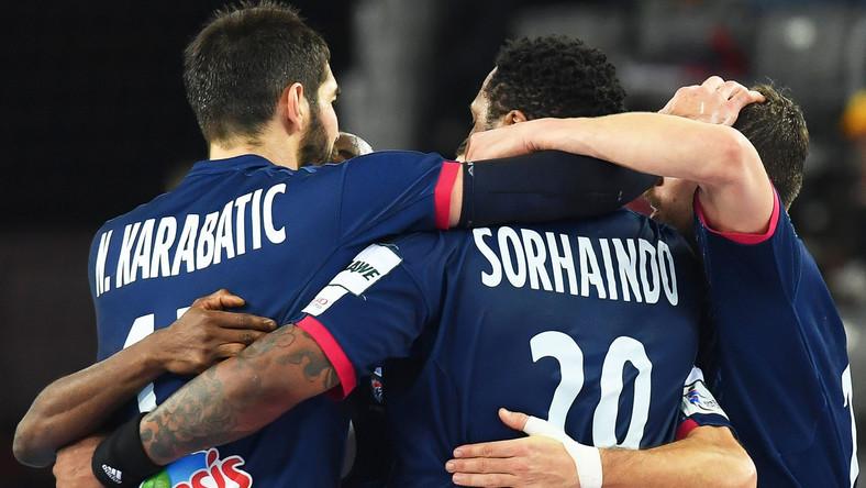 Reprezentacja Francji w piłce ręcznej po wygranym meczu w sezonie 2018