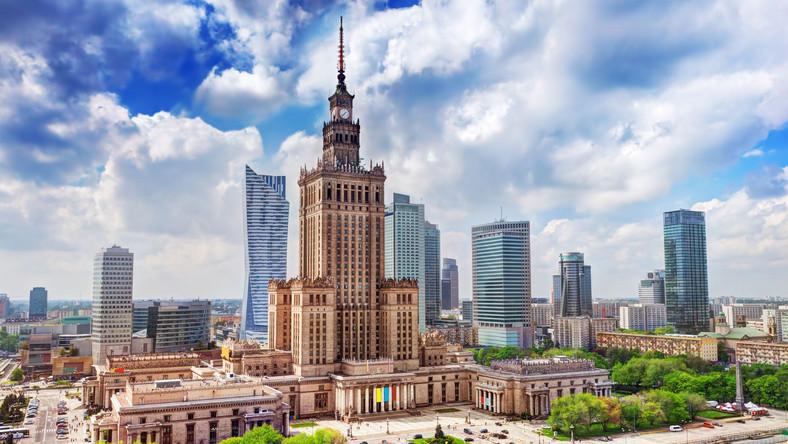 Plac Defilad i Pałac Kultury i Nauki w Warszawie