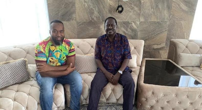 Raila visits ailing Mombasa governor Hassan Joho [Photos]