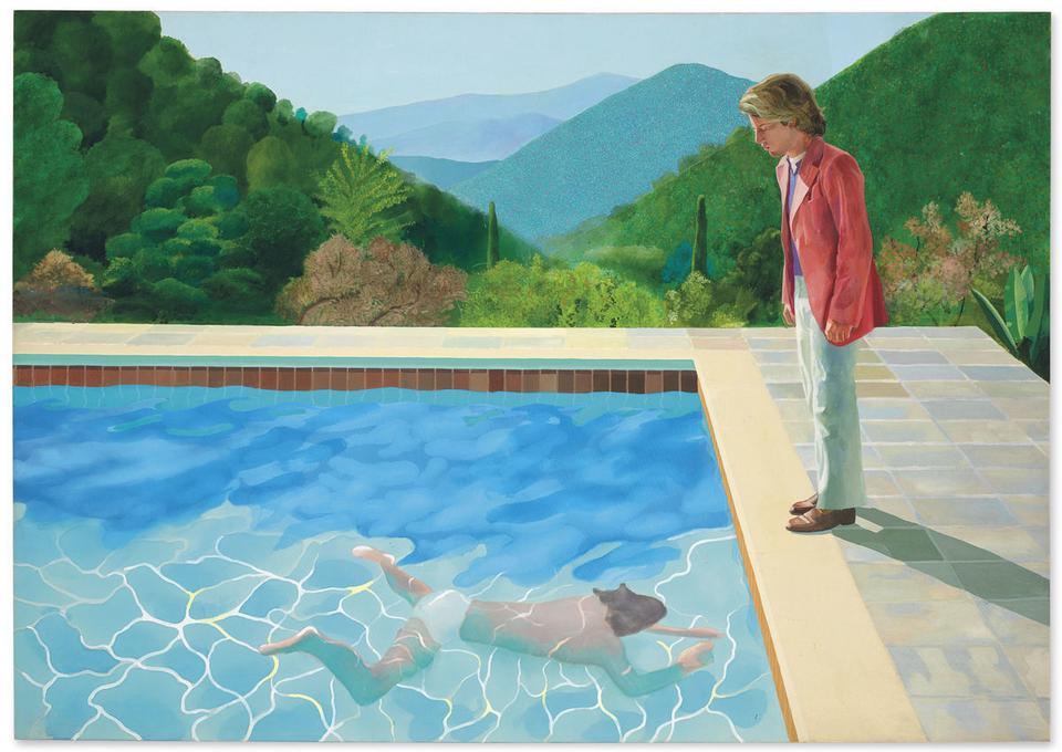 "90,3 mln dol. - David Hockney, ""Portret artysty"" (""Portrait of an Artist (Pool with Two Figures)""), 1972"
