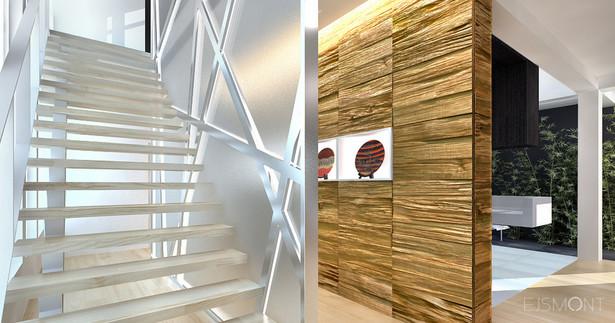 Rezydencja, nietypowe materiały wykończeniowe - projekt Ejsmont