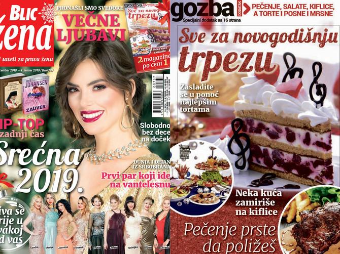 """Dva magazina po ceni jednog: Samo u """"Blic ženi"""" najlepša NOVOGODIŠNJA GOZBA"""