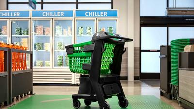 Amazon's new grocery store will have a smart shopping cart that lets you skip the checkout line (AMZN)