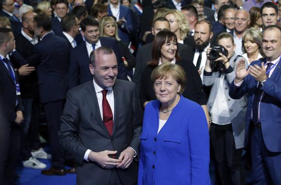 Angela Merkel i Manfred Veber