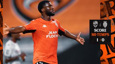 Terem Moffi nets his first goal of the season (Twitter/Lorient)