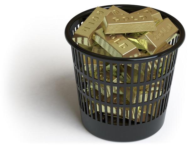 Złoto w śmieciach