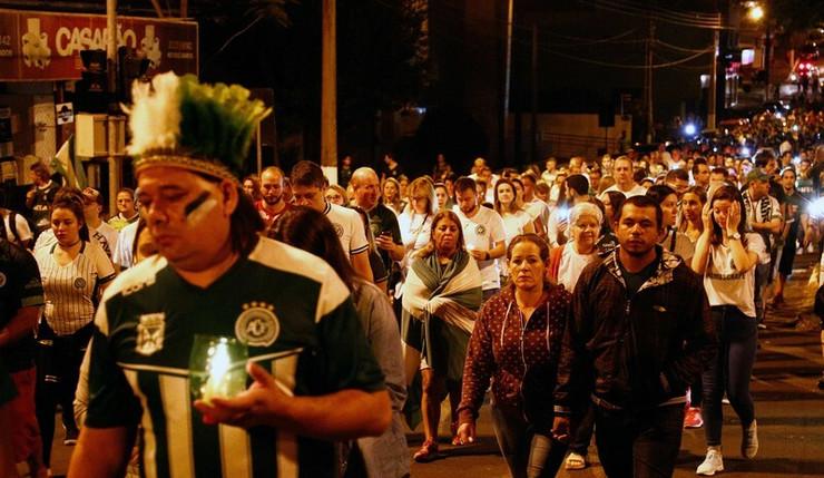 Navijači Šapekoensea nakon tragedije 2016