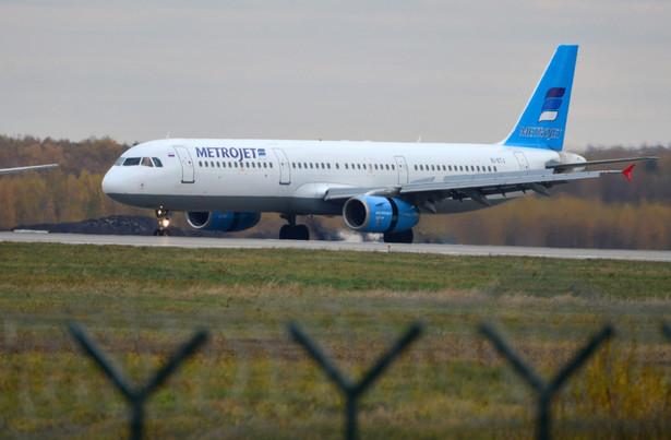 Samolot rosyjskich linii Metrojet.