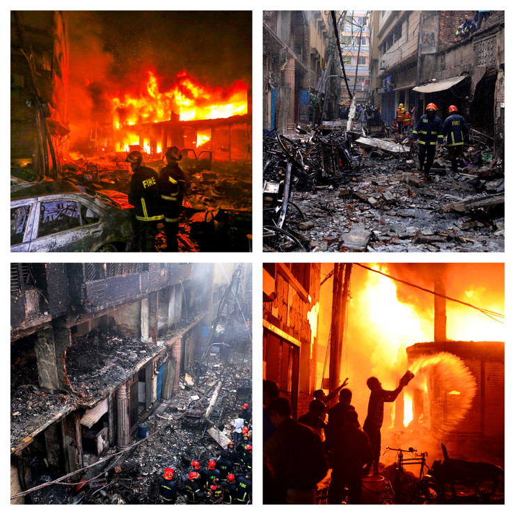Bangladeš, Daka, požar