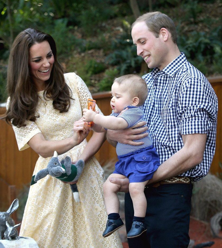 Książę William, księżna Kate oraz ich syn, książę George