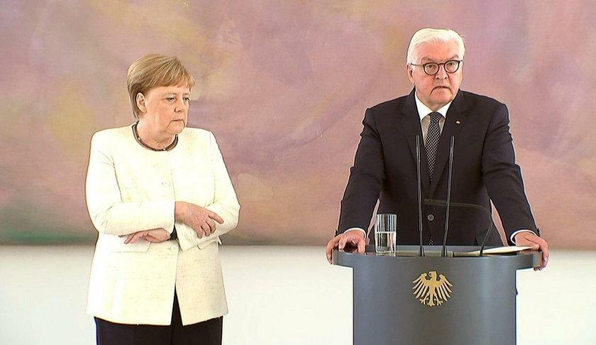 Niepokojące drgawki u Angeli  Merkel