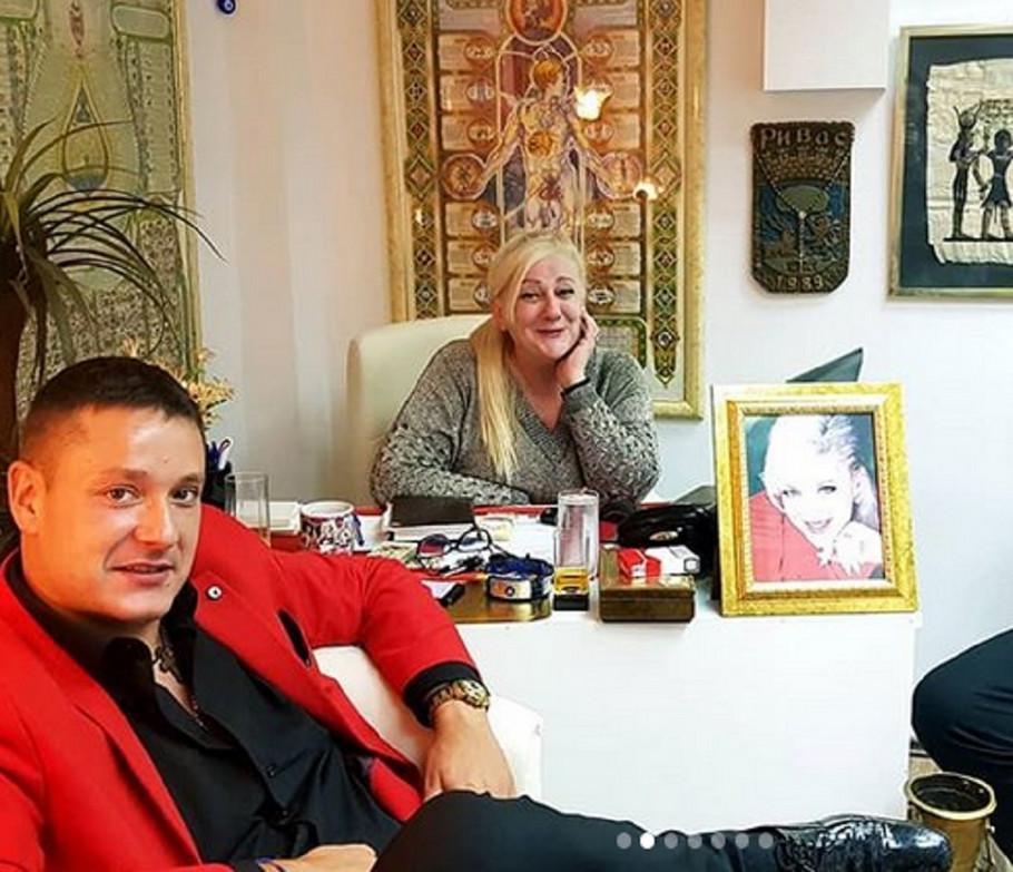Vesna Rivas i Vuk Đuričić u njenom astro centru