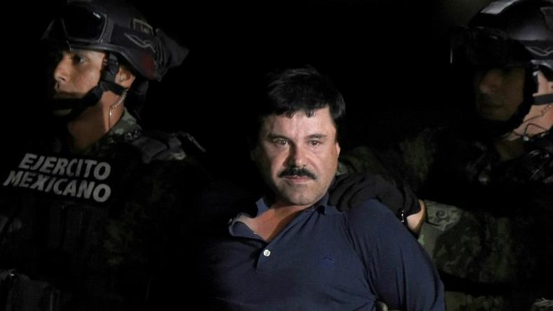 "Joaquin ""El Chapo"" Guzman -- pictured following his recapture in January 2016 -- is charged with smuggling 155 tons of cocaine into the United States"
