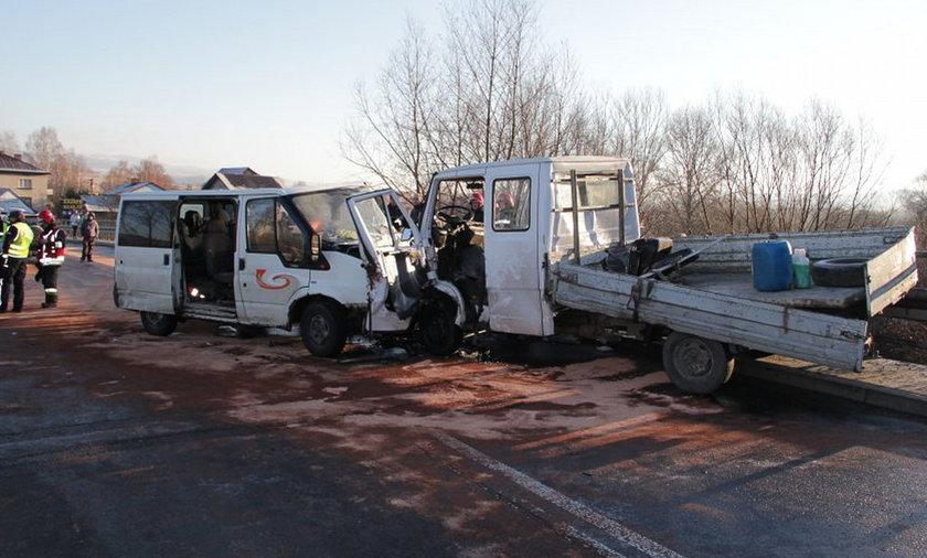 Żywiec.Zderzenie dwóch samochodów na ul. Krakowskiej