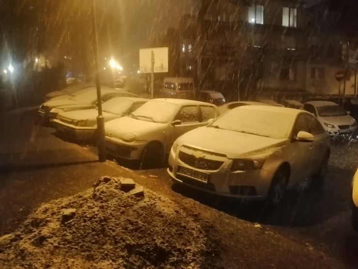 Sneg, Beograd