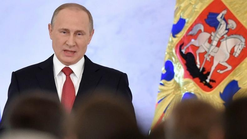 "Vladimir Putin, who first took charge of Russia in 2000, complains of ""shortaqes of investment resources, modern technology and professional personnel"""