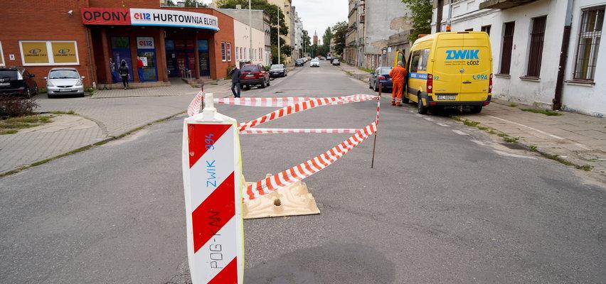 Zapadła się jezdnia na Pogonowskiego w Łodzi. Nie jeżdżą autobusy MPK