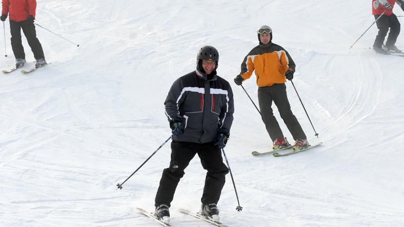 Bronisław Komorowski na nartach