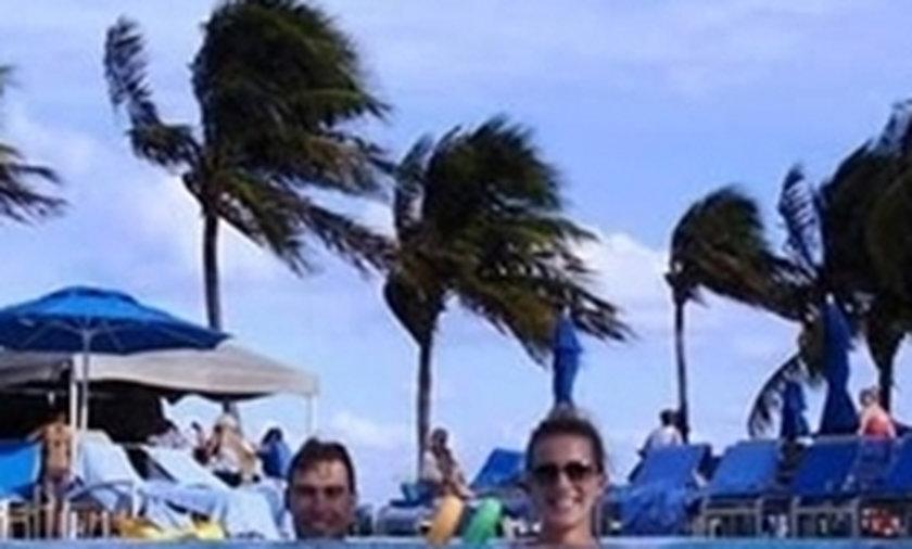 Janowicz i Domachowska na wakacjach