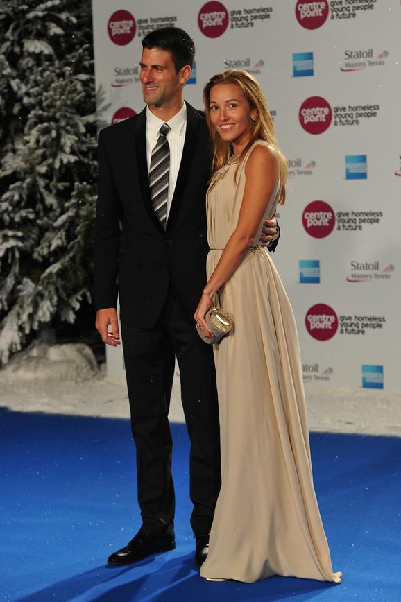 Jelena Ristić i Novak Đoković