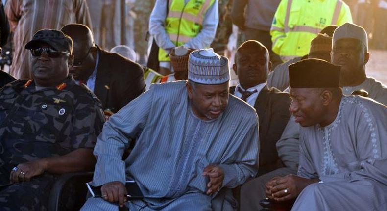 Former President, Goodluck Jonathan and former National Security Adviser, Sambo Dasuki