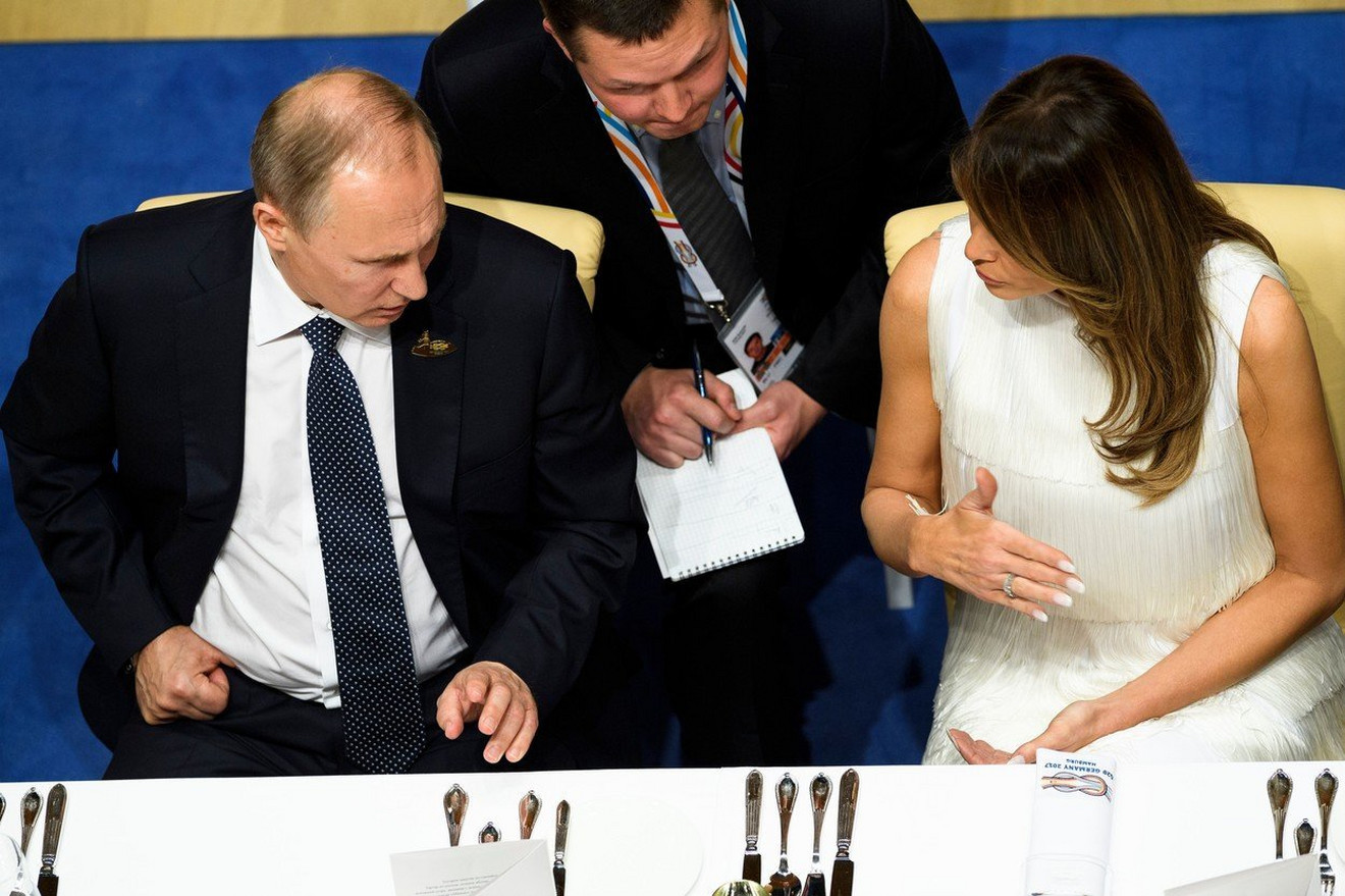 Melanija Tramp i Vladimir Putin 2017.  u Nemačkoj