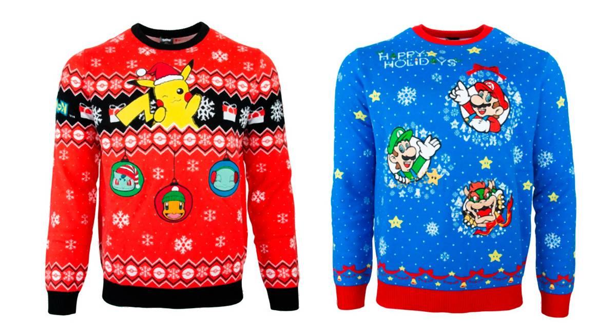 Du kannst deinen Freunden jetzt hässliche Nintendo-Weihnachtspullis schenken
