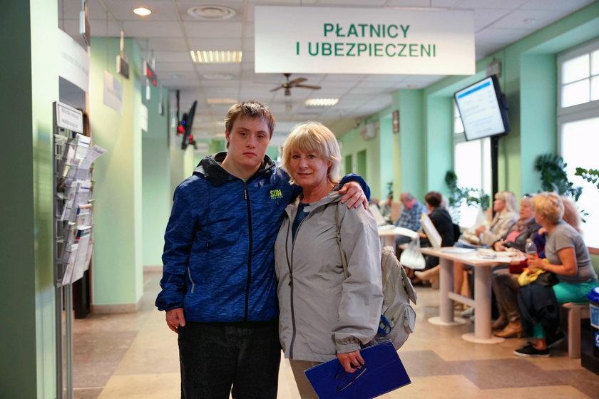 Maria Koralewska z synem Piotrem