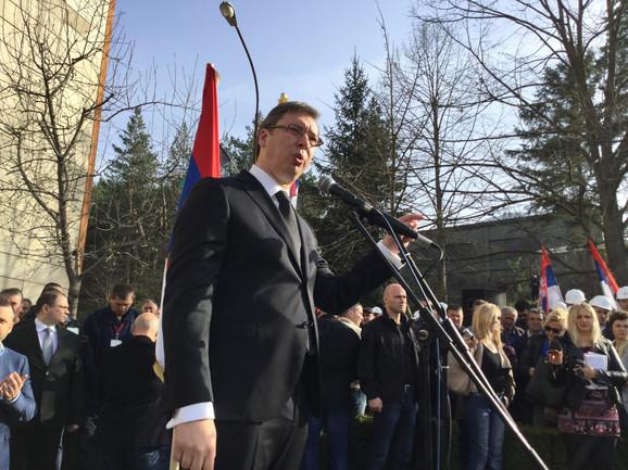 Aleksandar Vučić u Trepči