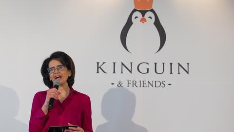 Anna Streżyńska podczas ogłoszenia powołania MC2 Solutions na konferencji Kinguin