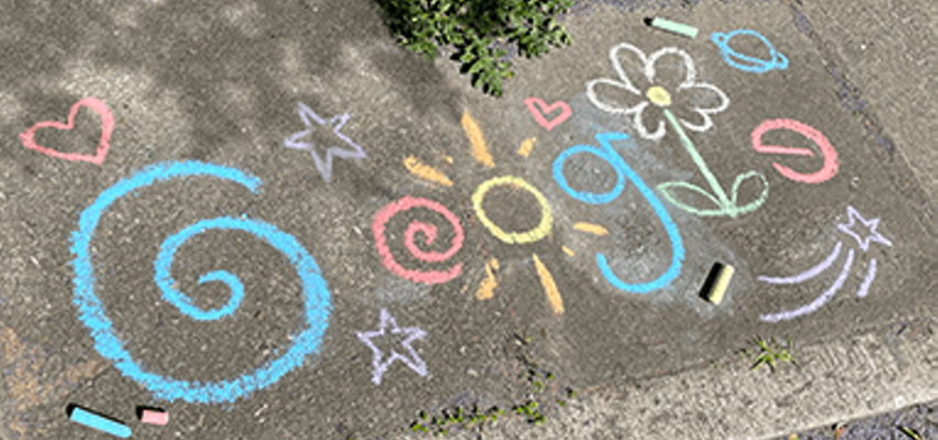 Wyszukiwarka Google z okolicznościowym logo na Dzień Dziecka
