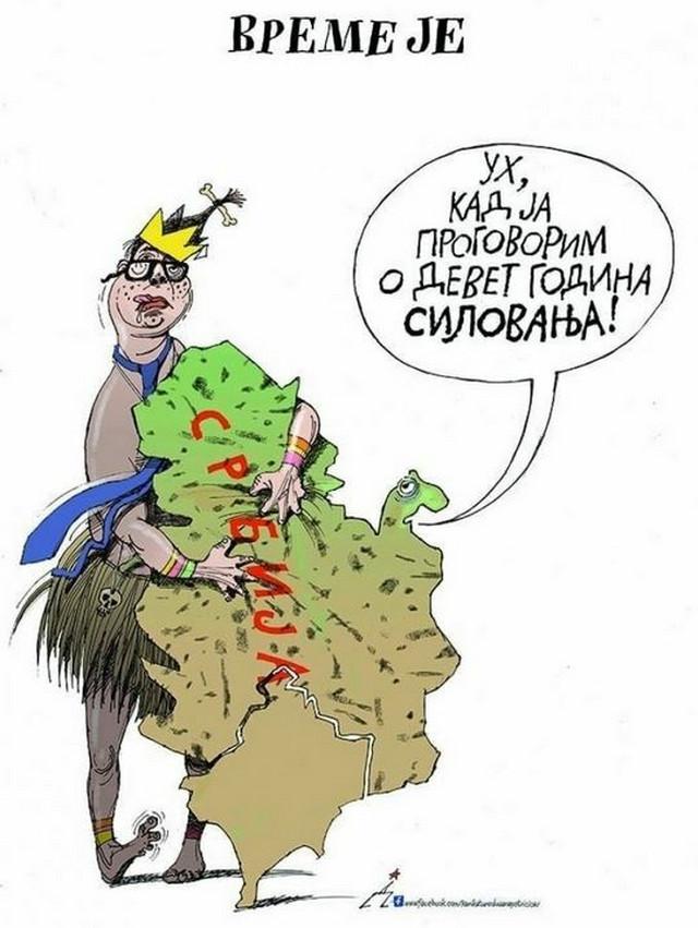 Karikatura Dušana Petričića koja je izazvala veliku prašinu u javnosti