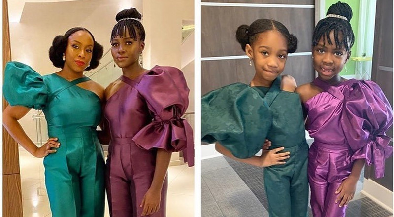 Young queens recreate Chimamanda Ngozie Adichie and Lupita Nyong'o looks in honor of International Women's Day