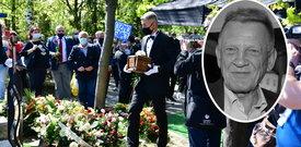 Poruszające sceny na pogrzebie Bronisława Cieślaka. Tak bliscy pożegnali zmarłego aktora [WIDEO]