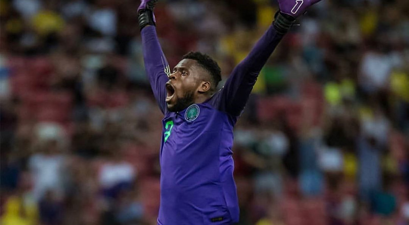 Super Eagles goalkeeper Francis Uzoho vows to come back stronger after picking up an injury