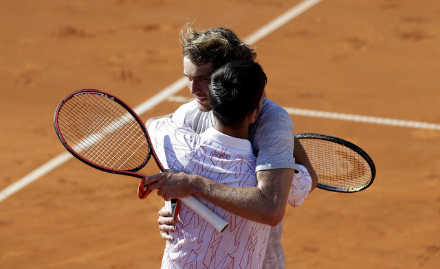 Novak Đoković i Aleksandar Zverev
