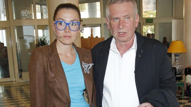 Olga Bołądź i Krzysztof Materna na 16 Festiwalu Gwiazd w Międzyzdrojach - lipiec 2011.