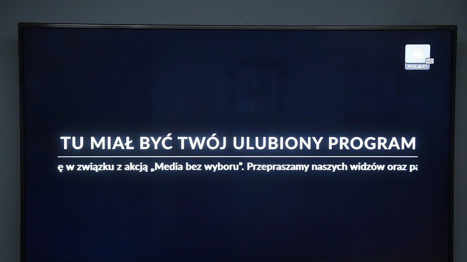 Jak wyglądała oglądalność kanałów telewizyjnych podczas środowego protestu?