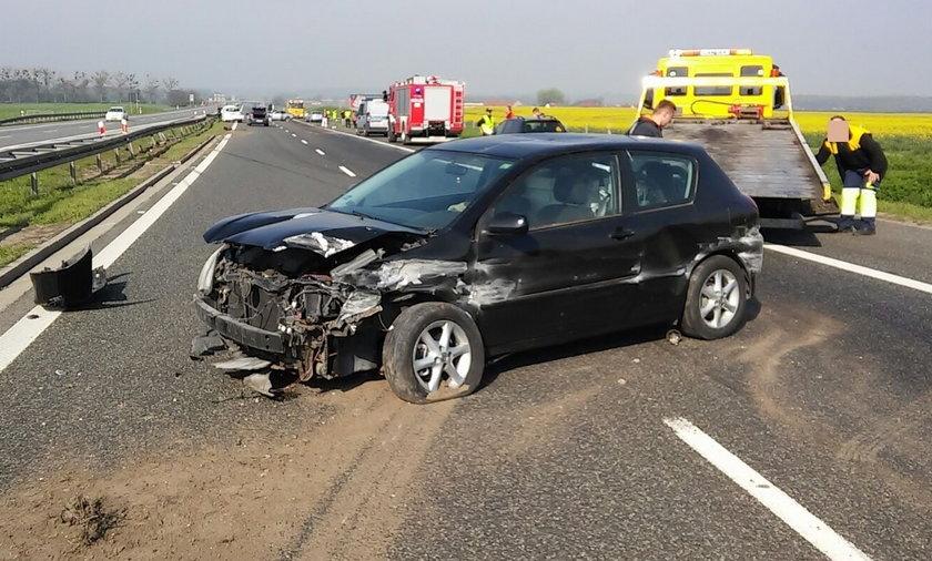 Wypadek na A4. Autostrada zablokowana